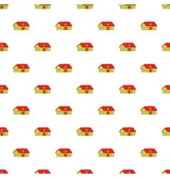 Large single storey house pattern cartoon style vector
