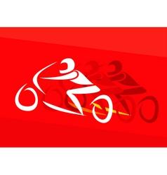 motor racing vector image vector image