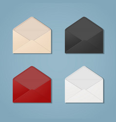 open envelopes vector image