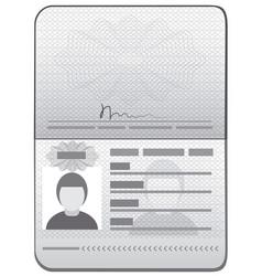 Passport id template vector