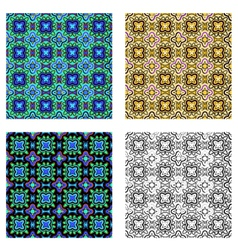 pattern psychedelic vector image vector image