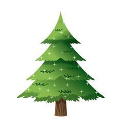 Pine tree light decoration merry christmas vector