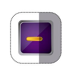 Purple emblem volume down button vector