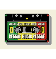 Reggae music retro typographical poster vector
