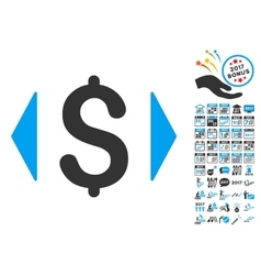 Regulate price icon with 2017 year bonus vector