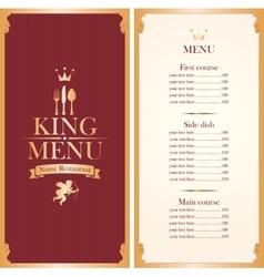 royal king menu vector image
