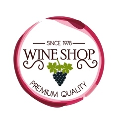 seal of quality wine isolated icon design vector image vector image