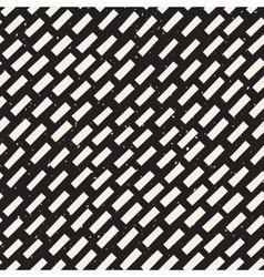 Seamless hand drawn diagonal grunge lines vector