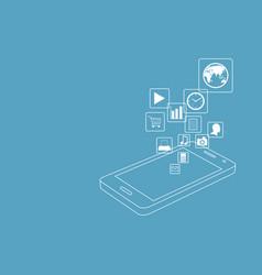 Smart phone vector