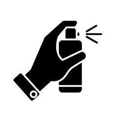 spray bottle in hand icon vector image