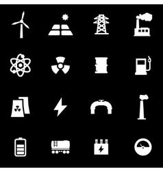 White energetics icon set vector