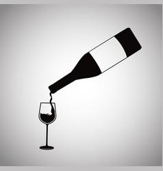 Wine bottle pouring glass cup image vector