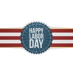 Happy labor day greeting banner vector