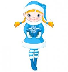 winter girl vector image