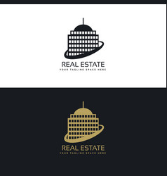 Real estate business logo concept vector