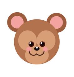 Isolated bear cartoon design vector
