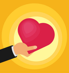 hands of the heart icon vector image