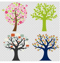 big set tree vector image