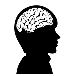 Man with brain vector