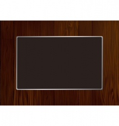 Wood frame vector
