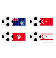 Tristan da cunha turkey tunisia or turkish flag vector