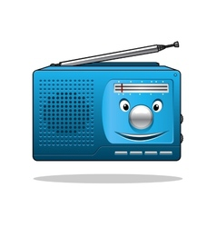 Happy retro transistor radio vector