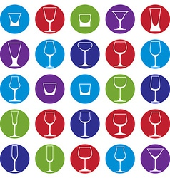 Classic goblets collection vector