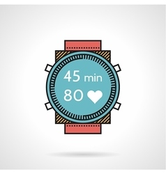 Flat design icon for diver watch vector