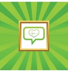 Cardiology message picture icon vector
