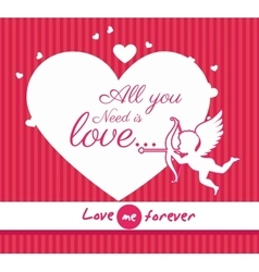 Love card design eps 10 vector image