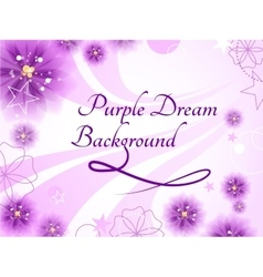 Purple dream background vector