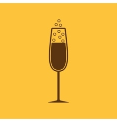 The glass of champagne icon wine symbol flat vector