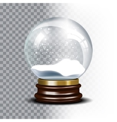 Christmas snow globe on checkered vector image