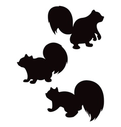 Cartoon squirrel silhouettes vector