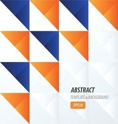 triangle pattern design 2 color blue orange vector image