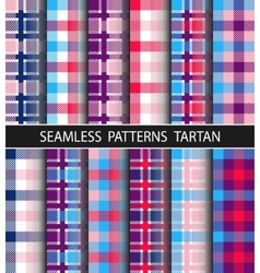 Set seamless pattern tartan vector
