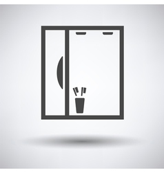 Bathroom mirror icon vector
