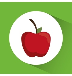 Apple icon nutrition and organic food design vector