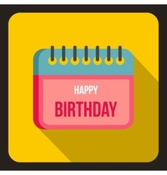 Birthday calendar icon flat style vector