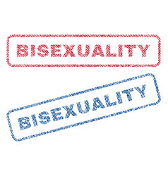 Bisexuality textile stamps vector