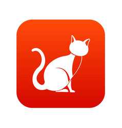 black cat icon digital red vector image vector image