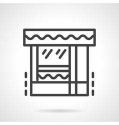 Butcher shop black line icon vector image