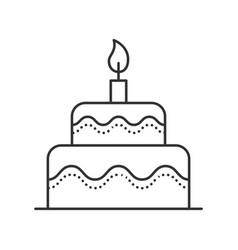 cake thin line vector image