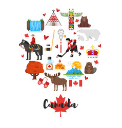 Canadian national cultural symbols vector