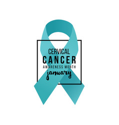 cervical cancer support ribbon vector image