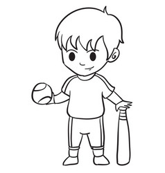 Character of kid sport collection vector
