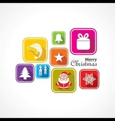 Christmas Celebration symbols stock vector image