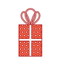 christmas gift box celebration decoration vector image vector image