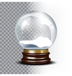 Christmas snow globe on checkered vector image