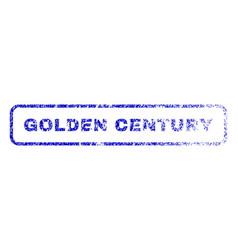 Golden century rubber stamp vector